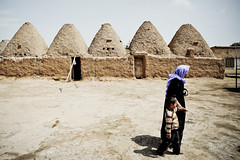 258_Harran (aleazzo) Tags: street houses boy people woman 35mm turkey nikon mud f14 bricks hijab beehive ais harran