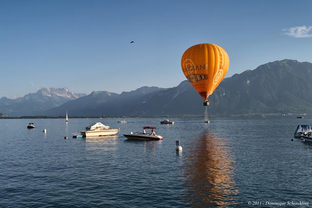 Lake Geneva in Montreux