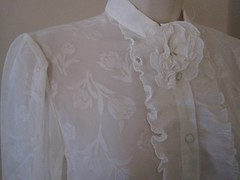 Norman Berg for Denise Fashions Floral Print Ruffle Lace & Chiffon Dress Bodice Front Right (mondas66) Tags: ruffles dress lace victorian dresses romantic elegant ornate lacy sheer frilly elegance ruffle frills frill ruffled lacework frilled frilling frillings normanberg befrilled denisefashions