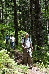 Plaidguy, hydnsek and Prying Pandora on the trail to GC12 Photo
