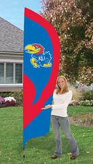 Kansas Jayhawks Tall Feather Flag