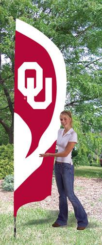 Oklahoma OU Tall Feather Flag