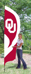 Oklahoma OU Tall Feather Flag