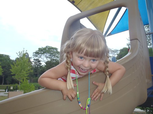 Vivianne being silly at the park