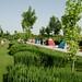 Barracas montadas nos parques de Esfahan