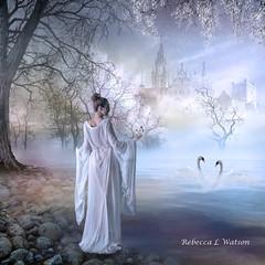 Odette (Team Beaker) Tags: lake tree castle swan princess blossoms obramaestra