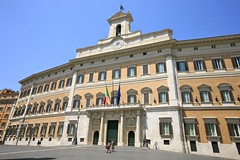 The Palazzo Montecitorio, seat of the Italian ...