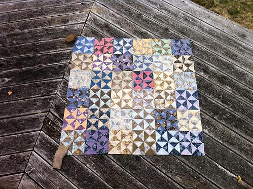 Morris Tapestry quilt top