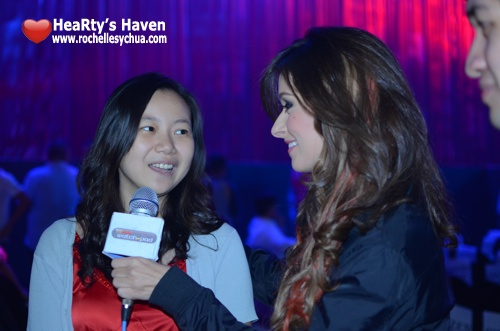 Daiana Menezes interviews Roch at FHM 100 Sexiest
