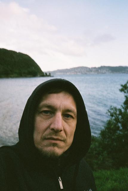 self portrait in a hoody