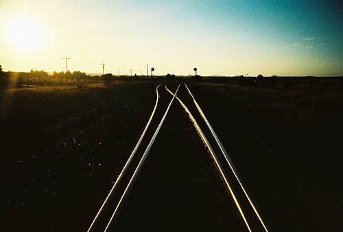 early morning  railroad