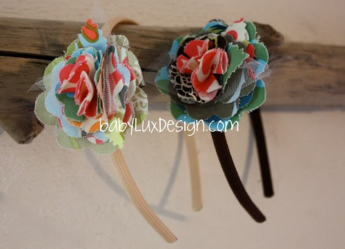 baby lux flower clips