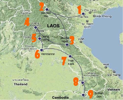 Laos Map 1
