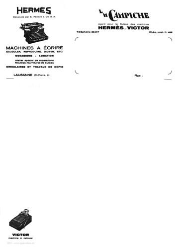 Briefpapier L.M. Campiche 1931