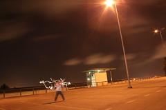 noche de eclipse (siso_sb_46) Tags: luz noche farola corua parking movimiento juego foco etsa largaexposicion
