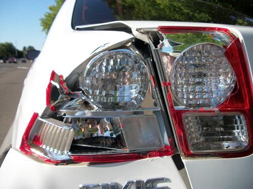 Smashed taillight