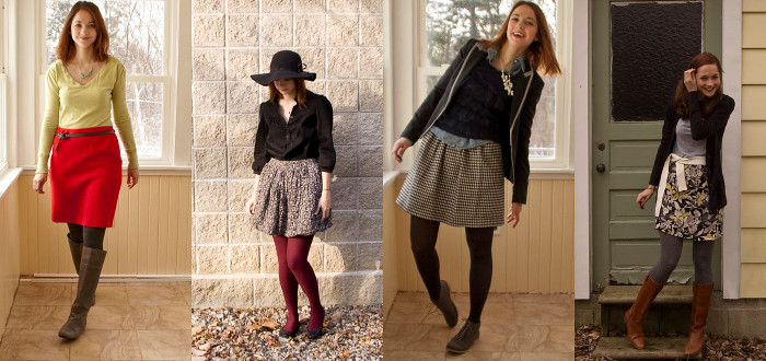 thrifted skirts, ideas,