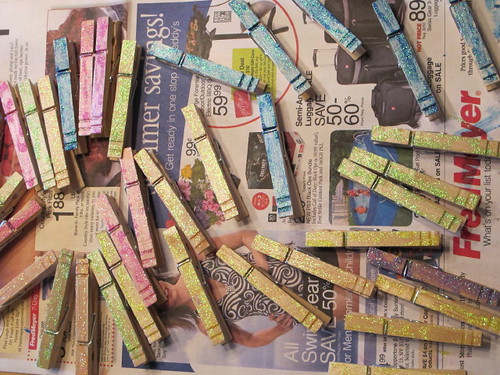 The painted clothespins