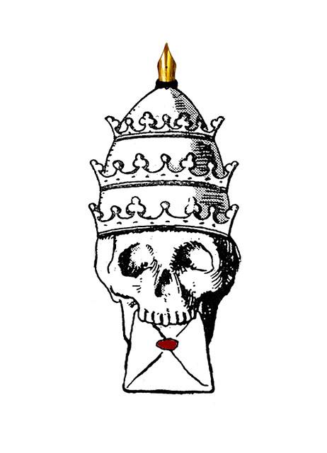 Nib Head skull