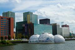 Floating pavilion - Rotterdam (Ferdi's - World) Tags: bridge rain geotagged rotterdam alone sunny ferdi zuidholland skylinerotterdam floatingpavilion geo:lon=449048 ferdisworld geo:lat=51905983 druivendpaviljoen
