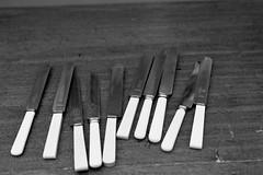 A Saturday Exploring Brixton (sasseymills) Tags: film 35mm blackwhite kodak iso400 nikonf100 knives brixton shoppingarcade trix400 shotat640 processatboxspeed