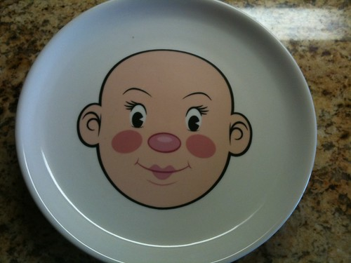 Girl Food Face Plate by Fred & Friends