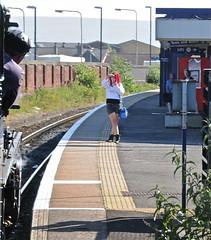 Rochdale Lancashire 2nd July 2011 (loose_grip_99) Tags: uk railroad england station train railway steam lancashire railtour pennines rochdale trainspotter lms 460 britishrailways coasttocoast 5mt stanier black5 45305 uksteam gassteam caldervalleyline