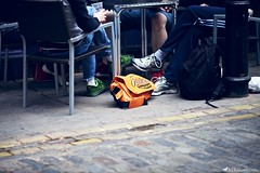. (Rick Nunn) Tags: street people london bag chair soho rick nunn reeses canonef135mmf2l vsortpop