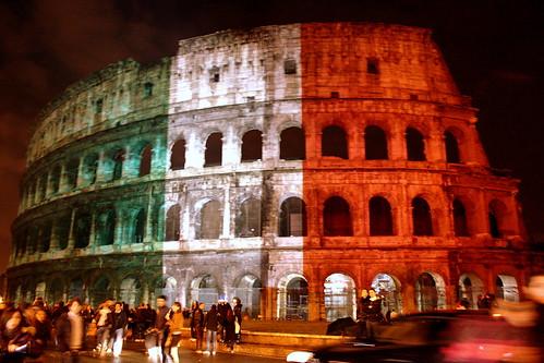 Il Colosseo tricolore...