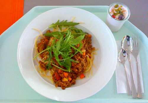 Spaghetti mit Balsamicolinsen & Ruccola / with balsamico lentils & ruccola