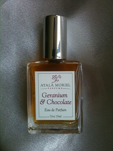 Geranium & Chocolate  by Ayala Moriel