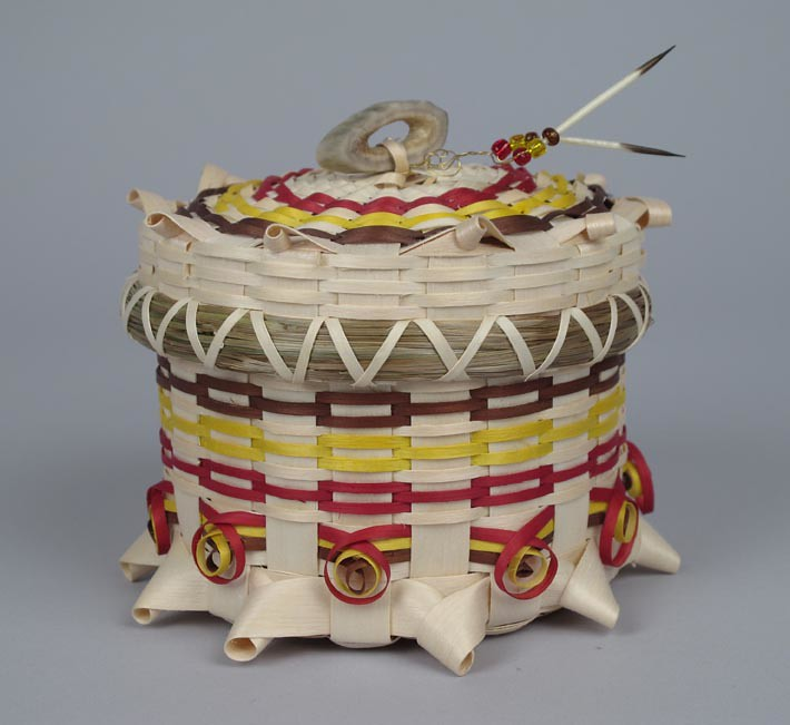 Gerald Jacobs medicine wheel basket