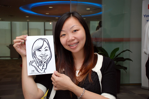 Caricature live sketching for Ricoh Roadshow - 5