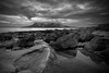 4164_mono_900 (BoboftheGlen) Tags: white black island bay scotland small rubbish isles squinty eigg laig