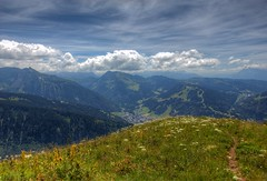 A View From Above (RECord!) Tags: summer sky france mountains alps green clouds canon landscape hiking scenic hike hdr morzine pointedenantaux portesdusoleil ef1740mmf4lusm 550d