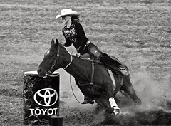 Barrel Racing! (Ken Yuel Photography) Tags: canada manitoba morris cowgirls cowboyhat sad