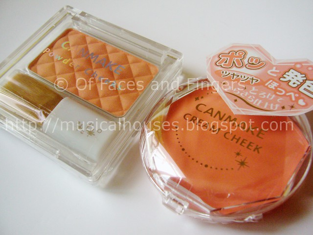 canmake orange coral cheek products