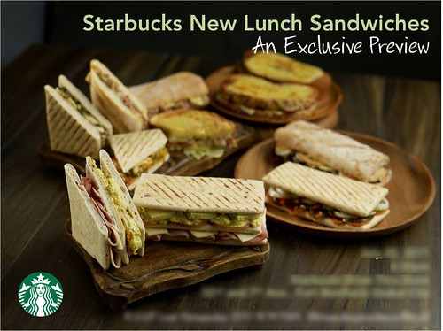 Starbucks New Lunch Sandwiches