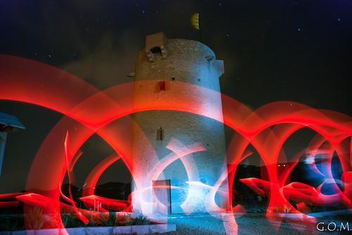 torre lightpainting