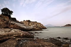 Amouliani (Vasilis Mantas) Tags: sea bw art abandoned beach canon island photography boat rocks long exposure mount greece shipwreck 1740 athos chalkidiki 500d nd110 amouliani vmantas vmantasphotography