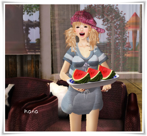 +9 watermelon 1/8 slices eat!!