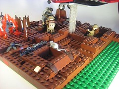 Lego WW1 (Almost Finished!!!!) (Epac1998) Tags: world brick by one bay war arms lego no bricks mans land british ww1 biplane germans trenches the smle bbtb kar98s