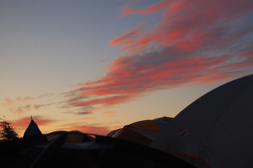 Sunrise over Tent CIty - Evolve Festival 2011