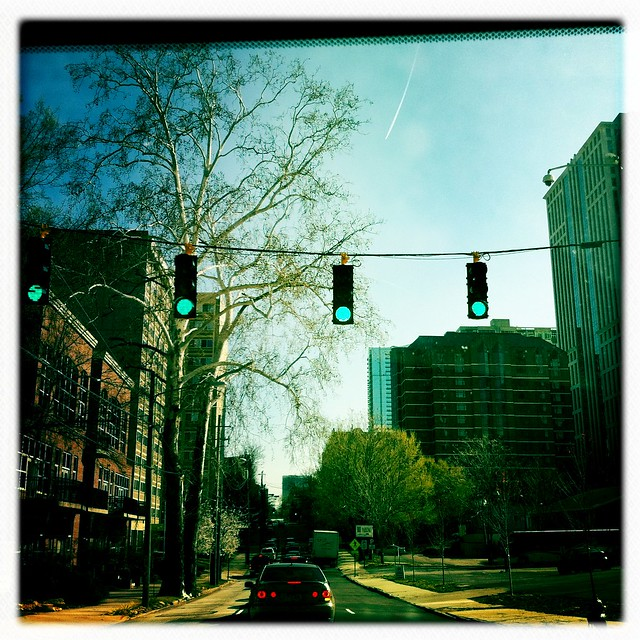 Atlanta Street Scene Viewed Through Photo App