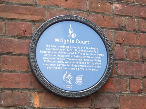 Discover Norwich blue plaque of Wrights Court
