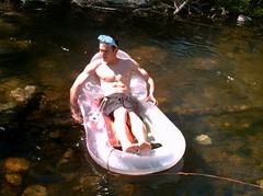 Shirtless Rafting #2 (Featureman) Tags: boy shirtless guy face muscles chest hard teen friendly abs bulge erect