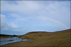 Rainbow over the Te Paki Dunes !