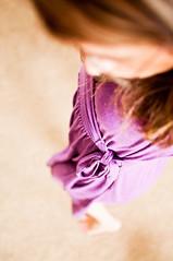 209/365 :: Thursday, July 28 (mother.of.pearl) Tags: distortion dress purple july tie twirl bobblehead project365 facelessselfportrait project36612011 week30theme3652011