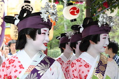 Kyoto Maiko and Geiko (Teruhide Tomori) Tags: travel japan dance kyoto traditional ngc performance maiko geiko   odori yasakashrine  gionmatsuri      gionmatsurifestival earthasia  komachiodori