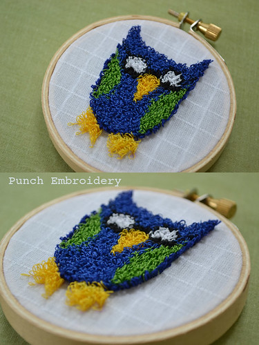 punch embroidery class